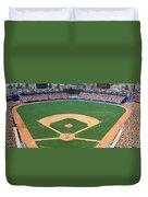 Aerial View Of A Stadium, Dodger Duvet Cover