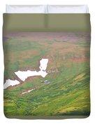 Aerial View Of Alaskan Landscape Duvet Cover