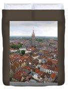 Aerial View Of Bruges Belgium Duvet Cover