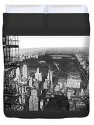 Aerial View Of Central Park Duvet Cover