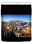 Aerial View Of Comares Village, One Duvet Cover