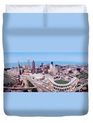 Aerial View Of Jacobs Field, Cleveland Duvet Cover