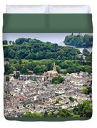Aerial View Of Keswick In The Lake District Cumbria Duvet Cover