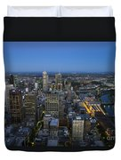 Aerial View Of Melbourne At Night Duvet Cover