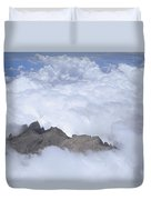 Aerial View Of Mt Kinabalu Borneo Duvet Cover