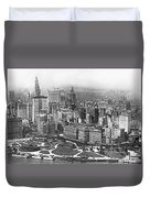 Aerial View Of Nyc Battery Duvet Cover