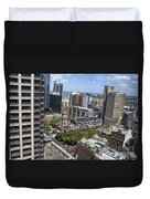 Aerial View Of Sydney City Hall Duvet Cover