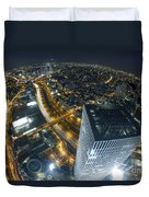 Aerial View Of Tel Aviv Duvet Cover