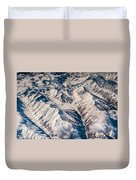 Aerial View Of The Mountains Duvet Cover