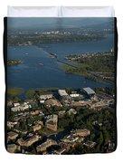 Aerial View Of The New Husky Stadium Duvet Cover