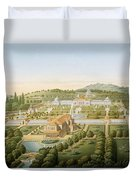 Aerial View Of The Villa Of King Duvet Cover