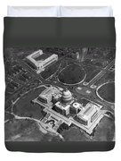 Aerial View Of U.s. Capitol Duvet Cover