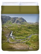 Aerial View Of Waterfall And River In Duvet Cover