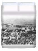 Aerial View Of Windsor Castle. Duvet Cover