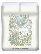 Aesop: Ant & Grasshopper Duvet Cover