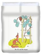 Aesop: Fox And Grapes Duvet Cover