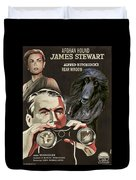 Afghan Hound Art - Rear Window Movie Poster Duvet Cover