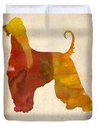 Afghan Hound Poster Duvet Cover
