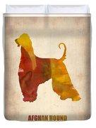 Afghan Hound Poster Duvet Cover by Naxart Studio