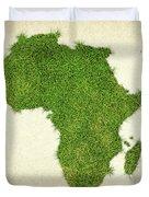 Africa Grass Map Duvet Cover