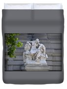 Africa Statue - New York City Duvet Cover