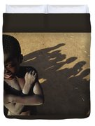 African Boy, Bare-chested, Arms Crossed Duvet Cover
