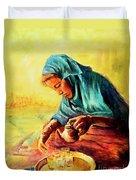 African Chai Tea Lady. Duvet Cover