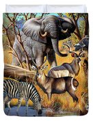 African Collage Duvet Cover by Cynthie Fisher