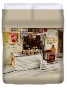 African Corner Store Duvet Cover