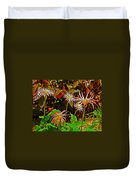 African Daisies In Aswan Botanical Garden On Plantation Island In Aswan-egypt Duvet Cover