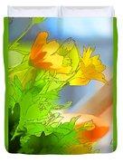African Daisy I - Digital Paint Duvet Cover