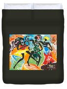 African Dancers No. 3 Duvet Cover
