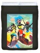 African Dancers No. 4 Duvet Cover