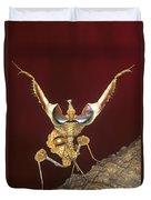 African Devil Mantis Duvet Cover