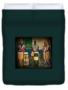 African Drummers Duvet Cover