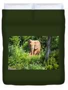 African Elephant Coming Through Trees Duvet Cover