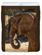 African Elephant Profile Duvet Cover