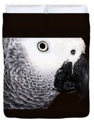 African Gray Parrot Art - Seeing Is Believing Duvet Cover