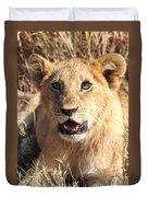 African Lion Cub Resting Duvet Cover