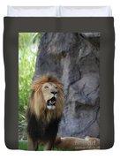 African Lion Roar Duvet Cover