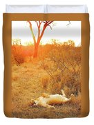 African Mammals Duvet Cover
