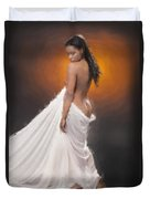 African Nude And White Cloth 1036.02 Duvet Cover