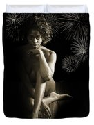Chynna African American Nude Girl In Sexy Sensual Photograph And In Black And White Sepia 4791.01 Duvet Cover