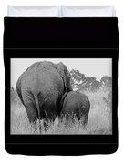 African Safari Elephants 3 Duvet Cover