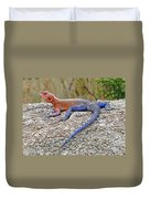 African Safari Lizard Duvet Cover
