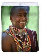 African Smile Duvet Cover