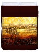 African Sunset Duvet Cover