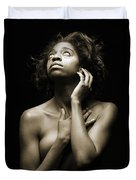 Chynna African American Nude Girl In Sexy Sensual Photograph And In Black And White Sepia 4789.01 Duvet Cover