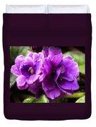 African Violet Duvet Cover