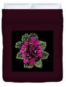 African Violets Bedazzled Duvet Cover